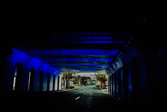 Out of the blue (Pedro1742) Tags: street blue tunnel lights