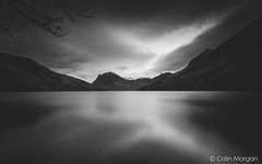 Buttermere with Fleetwith Pike (Splendid What) Tags: 2016 buttermere buttermerecanvas buttermerephoto buttermerepines buttermereprint ccp cumbria fb fl fells fleetwithpike haystacks hikers hills lake lakedistrict lakedistrictcanvas lakedistrictphoto longexposure mountains november p4 pines thesentinels tourism tourist trees walkers water mono blackwhite bw