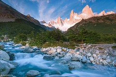 The Fitz Roy - El Chalten (Captures.ch) Tags: 2016 argentina black blue brown bushes captures clouds december elchalten fitzroy glacier gray ice landscape morning mountains nature orange red river sky snwo southamerica stones travel trees water waterfall white yellow