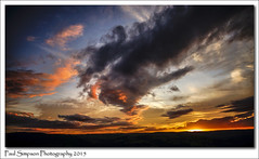 Hope Valley Sunset, Derbyshire (Paul Simpson Photography) Tags: sunset nature beauty clouds derbyshire colourful naturalworld hopevalley photosof imageof sunsetcolours photoof imagesof sonya77 paulsimpsonphotography peakdistrictscenes summer2015 postcardsofderbyshire august2015