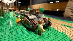 Battle of France (Rebla) Tags: world 2 france barn french war tank lego side country wwii battle ww2 behind frontline tanks allo moc 2015 hardenberg brickarms brickizimo