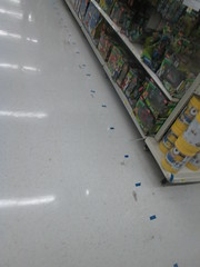 More Blue Dots (Random Retail) Tags: ny retail store walmart remodel olean 2015