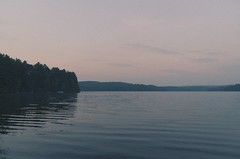 Cottage Insomnia (AaronMyers95) Tags: morning lake water clouds sunrise vintage waves quiet split tone