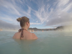 A magical dip in the geothermal waters of The Blue Lagoon!