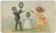 Eagle Starch Enamel Manufacturing Co., Frankford, Phila., Pa. (Library Company of Philadelphia) Tags: fashion illustrations advertisements manufacturing chromolithographs tradecards clothinganddress africanamericana africanamericanchildren librarycompanyofphiladelphia starchindustry