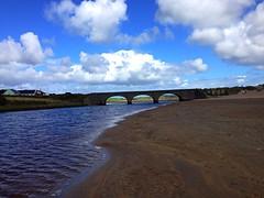 Lahinch beach walk (AlanJ97) Tags: ocean bridge ireland sea summer lake beach water sand clare walk arches lahinch lehinch