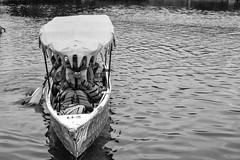 Transportation to look at the gorgeous of lake (ryandabram) Tags: family blackandwhite lake holiday indonesia photography boat blackwhite nikon ship paddle newyear bandung lembang greyscale keluarga danau kapal liburan hitamputih tahunbaru dayung rbproject