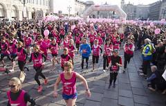 WomanDayTurin (Stefano Guidi Photojournalist / Cactus HC Agency) Tags: pink girls italy fun women run rights memory turin piazzasancarlo womensday march8 internationalday womanrights noviolence