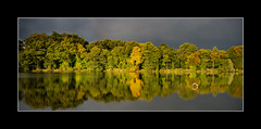Carr Mill dam (tkimages2011) Tags: autumn trees sky lake mill water carr dam pano olympus panoramic sthelens merseyside em10 carrmill