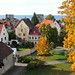 Visby, horisonten sedd från klinten ut mot Östersjön
