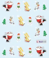 BLE111 (Jasmeet.k) Tags: santa christmas xmas tree art water nail slide musical decal transfer nailart bombastic