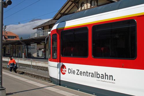 Zentral Bahn ABe 130 SPATZ EMU at Meiringen