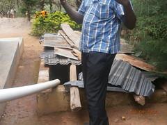 Underground tank-water harvesting