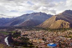 Urubamba and Soccer Stadium - Sacred Valley Peru (Don Thoreby) Tags: peru stadium soccer valley sacred andes farms agriculture sacredvalley urubambariver urubamba urubambavalley