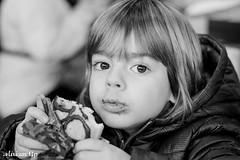 Mmmm... chocolate!!! (La Gormanderia) Tags: boy blanco kid y eating chocolate retrato negro comiendo