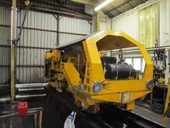 Plasser Tamper (Tanllan) Tags: welshpool llanfair light railway wales railroad heritage tamper plasser track machine workshop hydraulic ram removal