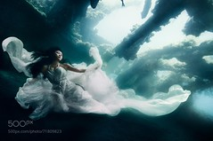 Forgotten (DRoofing163) Tags: bali beautiful white wedding ship surreal fish dress real underwater diving diver shipwreck epic exotic sunk sinking magical von wong vonwong