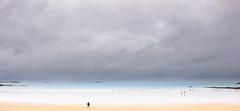 So small on this great planet (Lasorigin) Tags: ciel coquillage horizon nature ocan paysage plage sable saintmalobretagne gris bleu orange extrieur nuageux sky shell landscape ocean beach sand gray blue exterior cloudy lightroom canon eos 1ood 18135mm bteau boat cliff rocher falaise