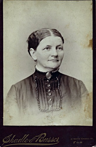 Lizzie Wilson Anderson Wearing a Hair Mourning Brooch, Albumen Cabinet Card, Circa 1888