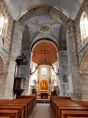 Barfleur church nave (Beth M527) Tags: manche france 2016 lowernormandy bassenormandie barfleur churches housesofgod