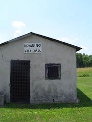 Downing MO (GuyDeckerStudio) Tags: downing missouri railroad depot city jain cows tree countryside schuyler county
