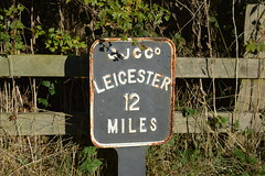 Leicester 12 miles (lcfcian1) Tags: leicester 12 miles leicester12miles sign gjcc grandunioncanal grand union canal leicestershire waterway water leicestershirecanal autumn wistow kibworth