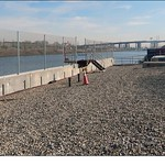 Figure 5: View of the Passaic River from the Diamond Alkali Superfund Site in Newark, NJ thumbnail