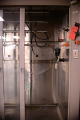 (John Donges) Tags: laboratory old disused science equipment room gas hood chambers pipes hose 8804