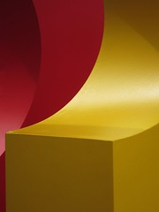 Curves (Annalisa Albuzzi) Tags: minimalism minimalismo minimal abstract astratto lightshadows colours colore red rosso giallo yellow architecture detail milan milano