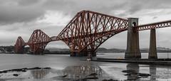 Forth Bridge (WaleriBykowski) Tags: 2016 schottland forth rail bridge scotland black bw white weis schwarz sonya6000 sony alpha a6000 6000 long time exposure langzeitbelichtung