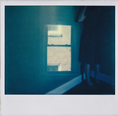 portal (Lisa Toboz) Tags: impossibleproject instantfilm polaroid selfportrait polaroidweek2016 spectrasystem doubleexposure expiredfilm blueroom portal window