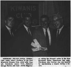 East Brunswick Kiwanis Club's police salute, 1969 (Ereiss1) Tags: vintage eastbrunswick nj
