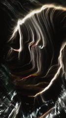 BASHIBA van GOGH - Interactive Portrait (BASHIBA) Tags: vangogh robertovitalini bashibacom vvvv realtimeparticlesystem portrait