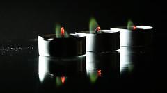 Green flame, Backlite  ( Explored ) (francepar95) Tags: backlitemacromondays macro tealight greenflame hmm