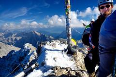 Zugspitze Summit Shot (decineper) Tags: mountain climbing cliff rock hiking summit zugspitze hllental hollental klettersteig viaferrata alps germany