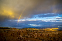 Rainbow Over Bryce (Thomas James Caldwell) Tags: bryce canyon national park usa america utah nature sky clouds rainbow rock geology sinking ship beautiful dramatic colorful sunset point landscape serene outdoor
