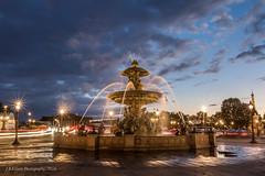 Place de la Concorde Sunset (elliott845) Tags: fountain paris europe sunset placedelaconcorde longexposure fontainedelaconcorde