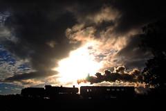 GWR steam locomotive 2857 on the Severn Valley Railway. (Keith Wilko) Tags: svr severnvalleyrailway steamtrain steam steamlocomotives steamengine uksteamlocomotives locomotive loco svrlocomotives severnvalleysteam sevenvalleyrailway 2857 loco2857 2857loco svr2857 sunsets sunset silhouettes bewdley kidder kidderminster clouds skies sky cloud