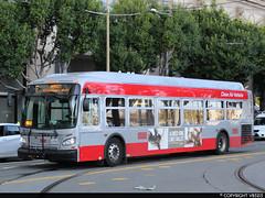 San Francisco Municipal Railway #8838 (vb5215's Transportation Gallery) Tags: muni san francisco municipal railway 2016 new flyer xde40 xcelsior