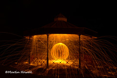 Wire wool spinning (martinhowell40) Tags: bandstand tenby wirewoolspinning pembrokeshire sparks spinning night nikon longexposure d5200