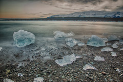Someone stopped the clock when we should have started early (OR_U) Tags: 2016 oru iceland jkulsrln hss sliderssunday ice le longexposure photoshopped humanleague deamsofleaving sea ocean hue icefloe beach pebbles movement motion hdr