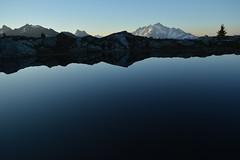 Morning on Our Lake (Sotosoroto) Tags: backpacking hiking washington cascades mountains northcascades yellowasterbutte lake reflection dawn shuksan mtshuksan mountain