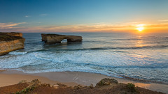 Broken Bridge (ImagesByLin) Tags: londonbridgevictoria southernocean victoria arch cliffs landscape limestone ocean sea seascape stack sunset water