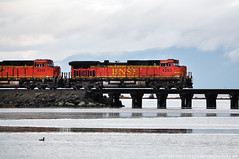 2016-11-21 BNSF 8349 & 4353 (1024x680) (-jon) Tags: anacortes skagitcounty washingtonstate salishsea fidalgoisland sanjuanislands pugetsound marchpoint casinodrive bingohalllagoon padillabay bnsf burlingtonnorthernsantafe railroad locomotive engine train railcar tankercar oil bakken crudeoil 4353 8349 tesoro lagoon bridge water a266122photographyproduction refinery tesoroanacortesrefinery oilrefinery