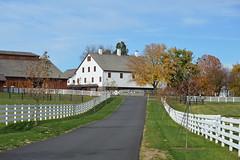 Conowingo & Lancaster 067 (dena429) Tags: barn horsebarn farm horsefarm whitefence fence farmlane lancastercounty pennsylvania agriculture farming