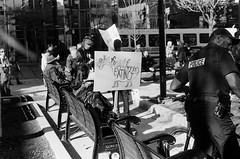 "Street Protest (Xsbmrnr (Please read profile before ""following"") Tags: gorepark blackandwhite bandw streetphotography street standingrock protest photojournalism olympusom1 om1 olympus hfg hamiltonflickrgroup police demonstration film trix trix400"