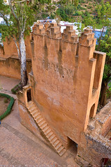 Stair to the watch floor (T Ξ Ξ J Ξ) Tags: morocco chefchaouen sefasawan d750 nikkor teeje nikon2470mmf28 blue city kasbah