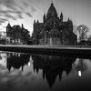 The Basilica (McQuaide Photography) Tags: haarlem noordholland northholland netherlands nederland holland dutch europe sony a7rii ilce7rm2 alpha mirrorless 1635mm sonyzeiss zeiss variotessar fullframe mcquaidephotography lightroom adobe photoshop tripod manfrotto light licht water reflection stad city urban waterside lowlight architecture outdoor outside waterfront building longexposure blackandwhite blackwhite bw mono monochrome nd neutraldensity bwfilters 6stop bulbmode square squarecrop 11 winter gracht leidsevaart cathedralofstbavo cathedral kathedrale church kerk religion catholic religiousbuilding basilica basiliek rijksmonument nationalmonumental monumentalbuilding neogotiek gothicrevival neoromaans neoromanesque josephcuypers wideangle groothoek