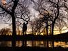 Parc Jarry à Montréal (Richard Lehoux) Tags: montréal jarry park parc québec canada sunset color streetphotography reflection tree trees