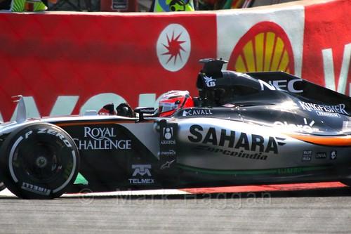 Nico Hulkenberg Qualifying for the 2015 Belgium Grand Prix